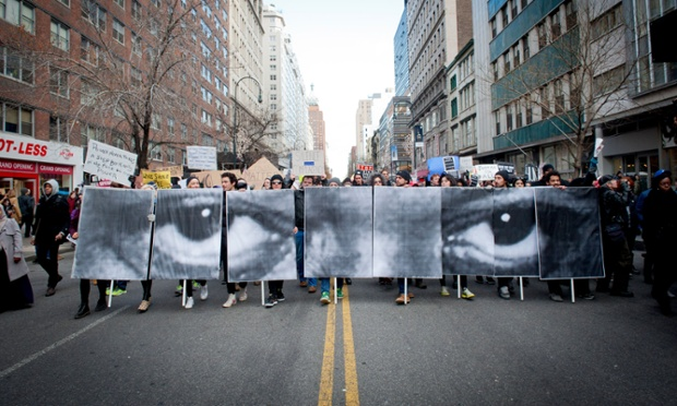 Anti-police violence protest, New York, America - 13 Dec 2014